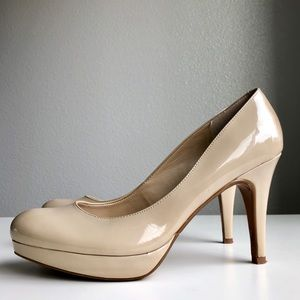 Mark Fisher Nude Pumps Stiletto Heels 8.5 EUC